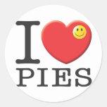 Pies, Eat Round Stickers
