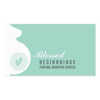 Pies embarazadas del bebé del vientre de la tarjetas de visita