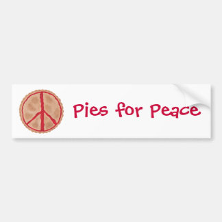 Pies for Peace cherry peace pie bumper stickers