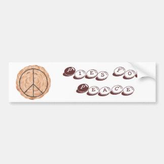 Pies for Peace meringue peace pie bumper stickers