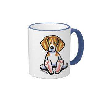 Pies grandes de Apagado-Correo Art™ del beagle Taza De Café