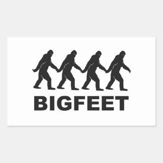 Pies grandes de Bigfoot Pegatina Rectangular