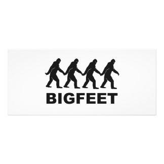 Pies grandes de Bigfoot Tarjeta Publicitaria Personalizada