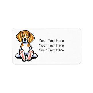 Pies grandes del beagle del Apagado-Correo de medi Etiquetas De Dirección