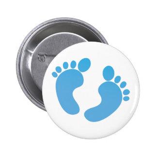 Pies lindos azules del bebé de maternidad pin