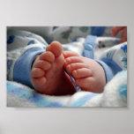 Pies lindos del bebé impresiones