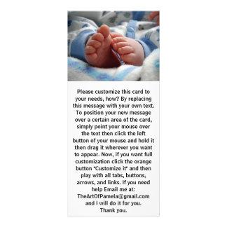 Pies lindos del bebé tarjeta publicitaria personalizada