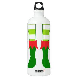 Pies lindos del duende del navidad botella de agua