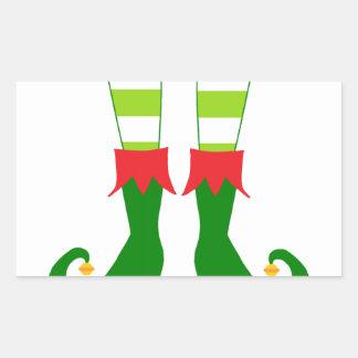 Pies lindos del duende del navidad rectangular altavoz