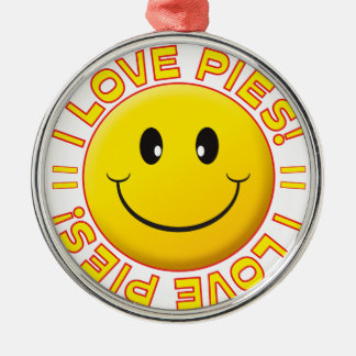 Pies Love Smile Silver-Colored Round Decoration