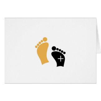 Pies minúsculos tarjeta de felicitación