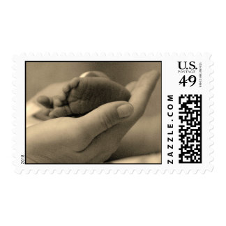 Pies minúsculos timbres postales