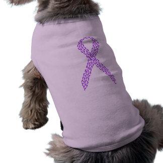 Pies púrpuras de cinta de la conciencia playera sin mangas para perro