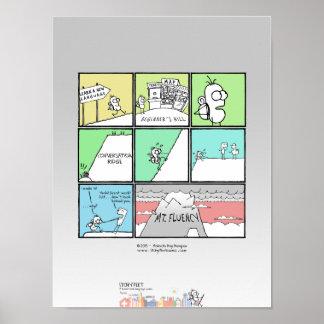 """PIES QUE PICA - """"visión desde el superior """" Posters"""
