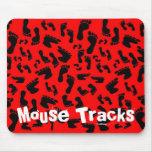 Pies rojos, pistas del ratón tapete de ratón