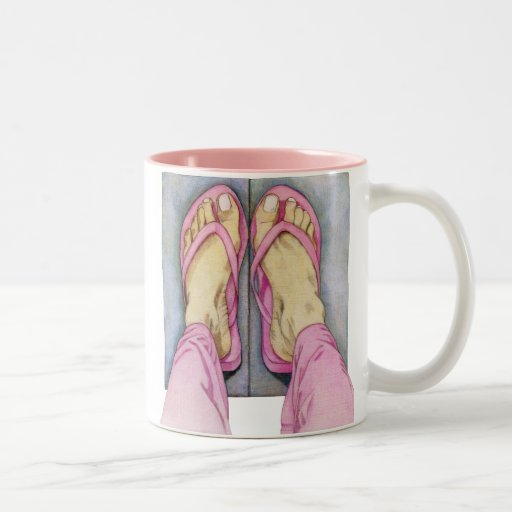 Pies rosados de taza