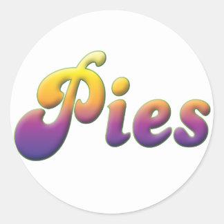 Pies Round Sticker