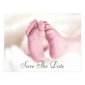 Pies unisex del bebé postales