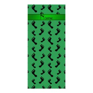 Pies verdes conocidos personalizados tarjetas publicitarias a todo color
