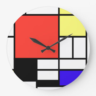 Piet Mondriaan and 1926 Composition Large Clock