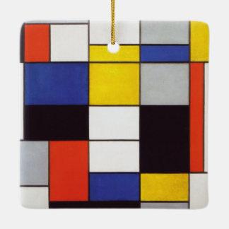 PIET MONDRIAAN - Compositon A 1923 Ceramic Ornament