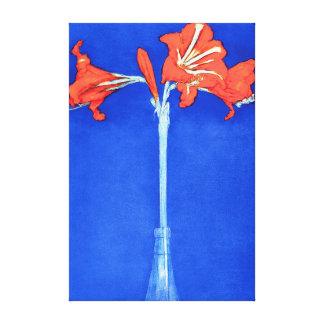 Piet Mondrian - Amaryllis Fine Art Flower Painting Canvas Print