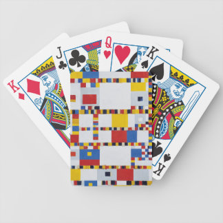 piet mondrian and victory.boogie-woogie bicycle playing cards