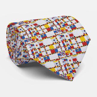 piet mondrian and victory.boogie-woogie neck tie