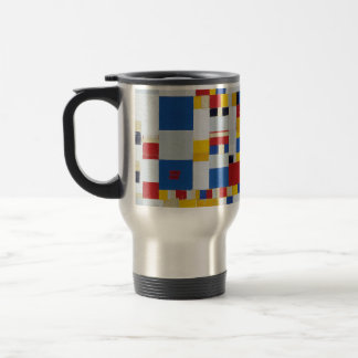 piet mondrian and victory.boogie-woogie travel mug