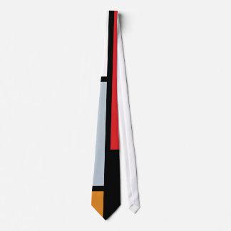 Piet Mondrian - composición con el avión rojo Corbatas Personalizadas
