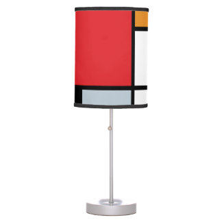 Piet Mondrian - composición con el avión rojo Lámpara De Mesilla De Noche