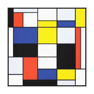 Piet Mondrian Composition A - Abstract Modern Art Canvas Print