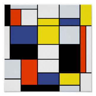Piet Mondrian Composition A - Abstract Modern Art Poster