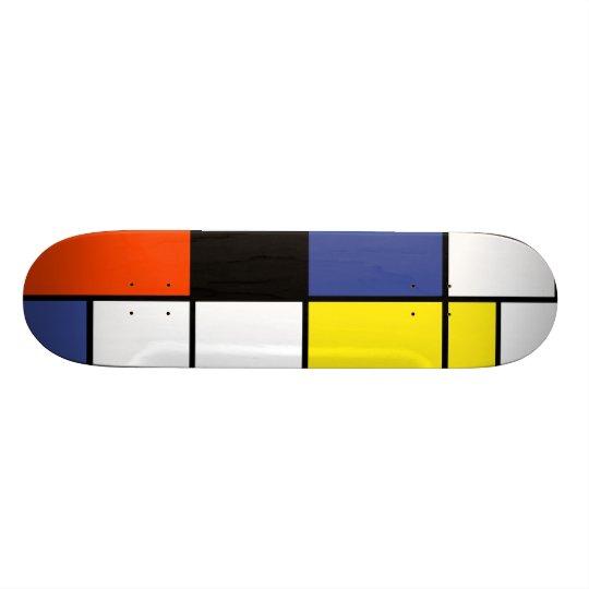 Piet Mondrian Composition A - Abstract Modern Art Skateboard Deck