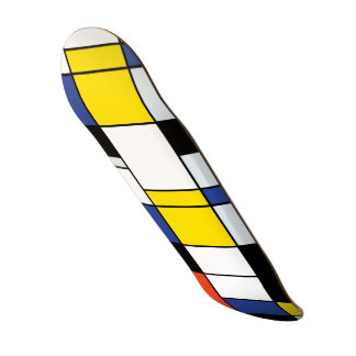 Piet Mondrian Composition A - Abstract Modern Art Skateboard Deck