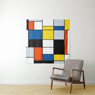 Piet Mondrian Composition A - Abstract Modern Art Tapestry