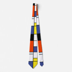 Piet Mondrian Composition A - Abstract Modern Art Tie at Zazzle