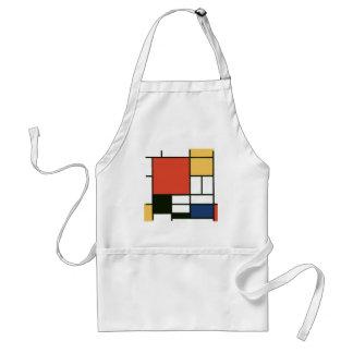 Piet Mondrian - Composition Adult Apron