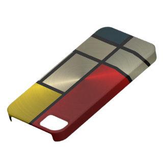 Piet Mondrian Composition Goldl iPhone 5 Covers
