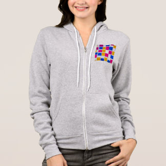 Piet Mondrian Composition with Color Fields Hoodie