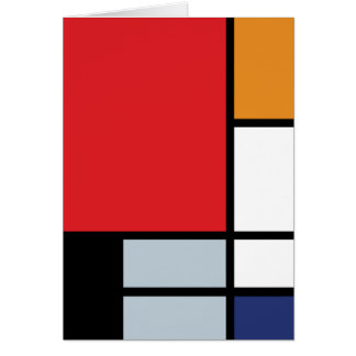 Piet Mondrian - Composition with Large Red Plane Card