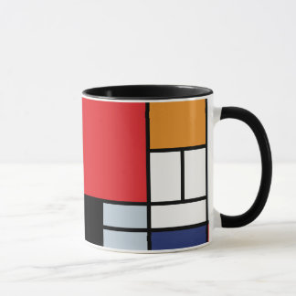 Piet Mondrian - Composition with Large Red Plane Mug
