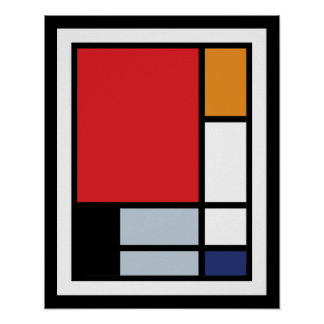 Piet Mondrian - Composition With Large Red Plane Poster