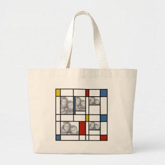 Piet Mondrian inspiró el bolso de la plantilla de  Bolsa Lienzo