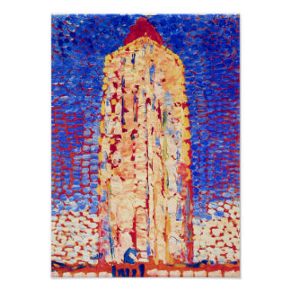 Piet Mondrian - Lighthouse in Westkapelle Fine Art Poster