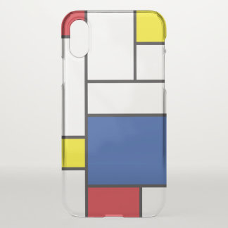 Piet Mondrian Minimalist De Stijl Modern Art iPhone X Case