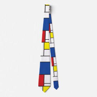 Piet Mondrian Minimalist De Stijl Modern Art Tie