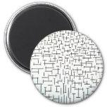 Piet Mondrian Modern Art 2 Inch Round Magnet