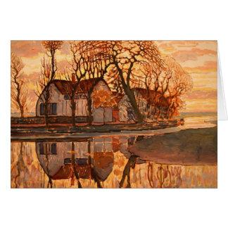 Piet Mondrian Modern Art Card