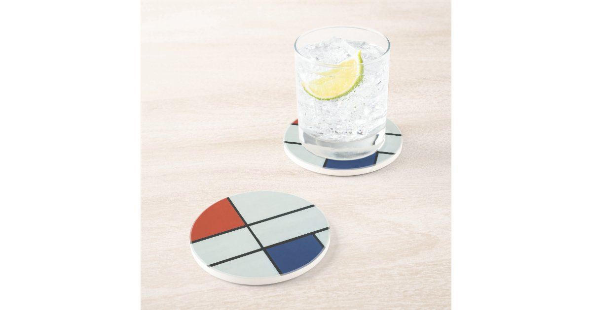 Piet Mondrian Modern Art Drink Coaster | Zazzle